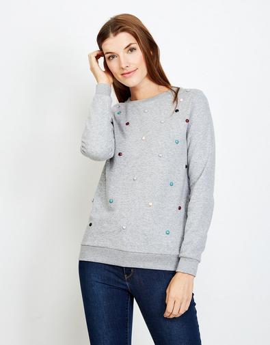 Sweater orné de perles